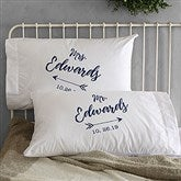 Sparkling Love Personalized Wedding Pillowcase Set - 19431