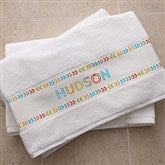 Stencil Name Personalized Bath Towel - 19432