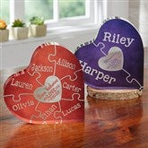 We Love You To Pieces Personalized Colored Heart Puzzle Keepsake - 19439