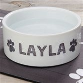 Farmhouse Pet Personalized Dog Bowl- Large - 19441-L