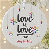 1-Sided Love Wins Personalized Pride Ornament-Large - 19447-1L
