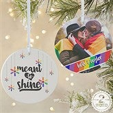 2-Sided Love Wins Personalized Pride Ornament-Large - 19447-2L