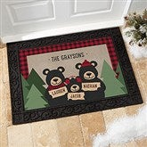 Holiday Bear Family Personalized Doormat- 18x27 - 19461