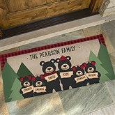 Holiday Bear Family Personalized Oversized Doormat- 24x48 - 19461-O