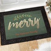 Cozy Christmas Personalized Doormat- 18x27 - 19462