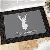 Winter Silhouette Personalized Doormat- 18x27 - 19463