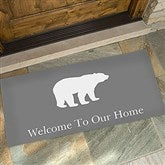 Winter Silhouette Personalized Oversized Doormat- 24x48 - 19463-O