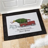 Classic Christmas Personalized Doormat- 18x27 - 19464