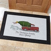Classic Christmas Personalized Doormat- 20x35 - 19464-M
