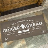 Vintage Holiday Personalized Oversized Doormat- 24x48 - 19465-O