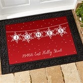 Festive Snowflakes Personalized Doormat- 18x27 - 19466