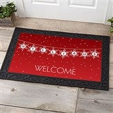 Festive Snowflakes Personalized Doormat- 20x35 - 19466-M