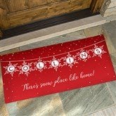 Festive Snowflakes Personalized Oversized Doormat- 24x48 - 19466-O