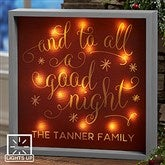 Silent Night Personalized LED Light Shadow Box- 10