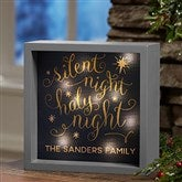 Silent Night Personalized LED Light Shadow Box- 6