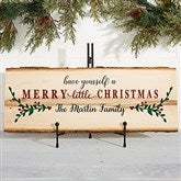 Merry Christmas Personalized Basswood Planks-Large - 19470-L