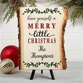 Merry Christmas Personalized Basswood Planks- Small - 19470-S