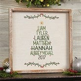 Christmas Family Tree Personalized Whitewashed Frame Wall Art- 12