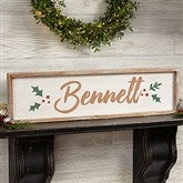 Cozy Christmas Personalized Long Barnwood Frame Wall Art- 30