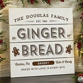Vintage Holiday Personalized Wooden Slat Sign- 12' x 12