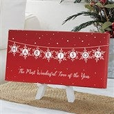 Festive Snowflakes Personalized Canvas Print- 5½