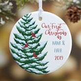 1-Sided Grandparent's First Christmas Personalized Ornament - 19481-1