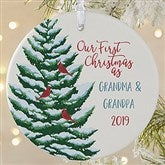 1-Sided Grandparent's First Christmas Personalized Ornament-Large - 19481-1L