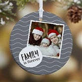 1-Sided Photo Message Personalized Christmas Ornament - 19482-1