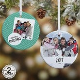 2-Sided Photo Message Personalized Christmas Ornament - 19482-2