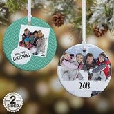 2-Sided Photo Message Personalized Christmas Ornament-Small - 19482-2