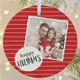 1-Sided Photo Message Personalized Christmas Ornament-Large - 19482-1L