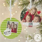 2-Sided Photo Message Personalized Christmas Ornament-Large - 19482-2L