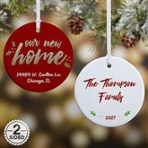 2-Sided Our New Home Personalized Ornament - 19484-2
