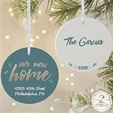 2-Sided Our New Home Personalized Ornament-Large - 19484-2L