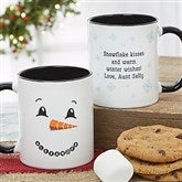 Snowman Character Personalized Christmas Mug 11 oz.- Black - 19489-B