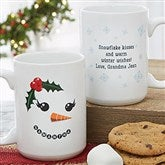 Snowman Character Personalized Christmas Mug 15 oz.- White - 19489-L