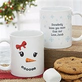 Snowman Character Personalized Christmas Mug 11 oz.- White - 19489-S