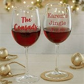 Christmas Celebrations Personalized 19 1/4oz. Red Wine Glass - 19499-RN