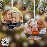 2-Sided Precious Photo Message Personalized Ornament - 19500-2