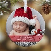 1-Sided Precious Photo Message Personalized Ornament-Small - 19500-1