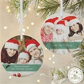 2-Sided Precious Photo Message Personalized Ornament-Large - 19500-2L