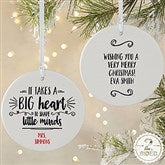 2 Sided It Takes A Big Heart Personalized Teacher Ornament- Large - 19501-2L