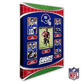 New York Giants Personalized NFL Trading Card Photo Canvas Print - 12