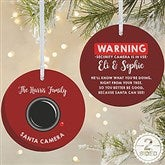 2-Sided Santa Cam Personalized Ornament-Large - 19505-2L