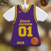 1-Sided #1 Coach Personalized T-Shirt Ornament - 19508-1