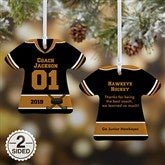 2-Sided #1 Coach Personalized T-Shirt Ornament - 19508-2