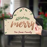 Cozy Christmas Personalized Magnetic Garden Sign - 19524-M