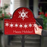 Festive Snowflakes Personalized Magnetic Garden Sign - 19526-M