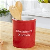 Personalized Classic Red Kitchen Utensil Holder - 19527