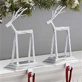Silver Reindeer Stocking Holder - 19540-S